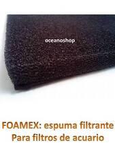 RECAMBIO 10x7x1,7cm FOAMEX de FILTRO ACUARIO filtración interior interno esponja