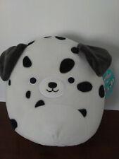 """*Rare* Dustin the Dalmatian Puppy Dog 8"""" Squishmallow Plush 2020 New Edition"""