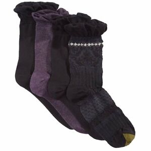 Gold Toe Womens Premiere Santiago Texture Socks Multi Purple One Size