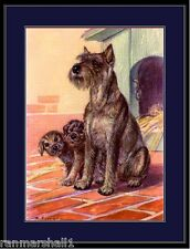 English Print Miniature Schnauzer Dog Puppy Dogs Vintage Poster Art Picture