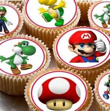 Super Mario Edible Cupcake Fairy Cake Topper x24