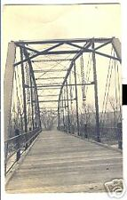 Old Postcard 1914 Old Plank Bridge Near Thorp Wis  ???