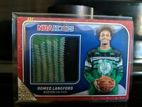 2019-20 PANINI NBA HOOPS ROMEO LANGFORD Holiday SWEATER RELIC CARD CELTICS