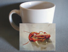 Fine quality country french miniature artwork of lobster - great for dollhouse