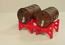 Double Industrial Drums / Rack Miniature 1/24 Scale G Scale Diorama Accessory
