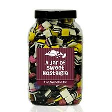 Liquorice Allsorts Sweets Jars - Personalised Retro Sweet Gift Jars In 4 sizes!