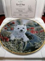 WEST HIGHLAND WHITE TERRIER PLATE TYRED OUT WESTIE PAUL DOYLE DANBURY MINT