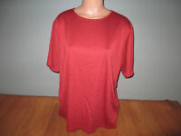 New Womens Plus Size 2X Studio Works Rust Stretch Career Top Shirt S/S