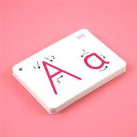 Alphabet Letter Flash Cards Educational Montessori Kids Learning Toys LI