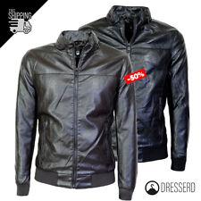 Giubbotto giacca uomo ecopelle casual giubbino slim-fit nero marrone Dresserd