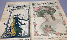 2 Ladies World, March 1903 & June 1903, Advertisements, Fashion & Recipes