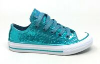 Converse Unisex Kids CTAS OX Casual Sneaker Shoes Brittany Blue White Size 12