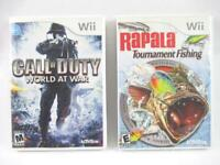 Lot of 2 Nintendo Wii Games Call Of Duty World At War Rapala Tournament Fishing