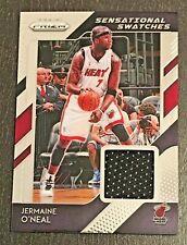 Jermaine O'Neal 2018-19 Panini Prizm Sensational Swatches Jersey #100 Miami Heat