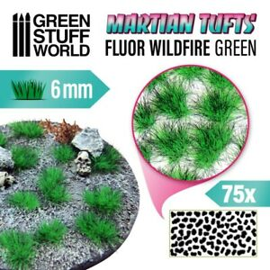 Martian Fluor Tufts - FLUOR WILDFIRE GREEN- Scenery Miniature Basing Warhammer