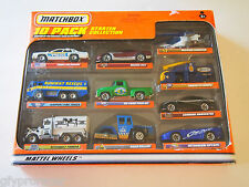 Matchbox 10 PACK FORD LTD POLICE MISSION CHOPPER RUNWAY RESCUE 56 FORD AND MORE