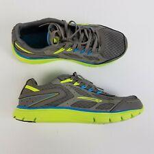 LA GEAR Size 7 Medium Womens Running Shoes Grey Neon Yellow Blue EUC EUR 38 VHTF