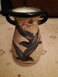 Amphora Vase. Pottery. Birds