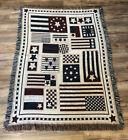 STARS & STRIPES PATRIOTIC AMERICAN US FLAG TAPESTRY THROW AFGHAN BLANKET 50x70