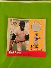 HANK AARON-Silver Ounce Coin 1989 Baseball Card Set-ud psa rc 1954 Rookie Year