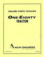 ALLIS CHALMERS 180 One Eighty Diesel Parts Catalog Manual AC