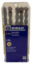 2 Kobalt 5 Pack 12 Masonry Drill Bitsfor Brick Stone Concrete10 Bits