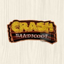 Crash Bandicoot Logo Embroidered Patch Console PS Playstation Team Racing Coco 2