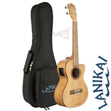 Lanikai FM-CET Flame Maple Tenor Acoustic Electric Ukulele with Fishman Pickup