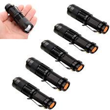 6 Mini CREE Q5 LED Flashlight Torch 7W 1200LM Adjustable Focus Zoom Light Lamp