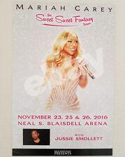 Mariah Carey w/ Jussie Smollett Concert Poster Honolulu Hawaii November 2016