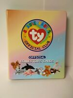 Large Lot Binder of Ty Beanie Baby Cards 225 cards plus stickers and checklist