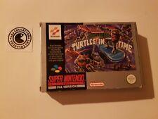 Turtles 4 turtles in time - super nintendo - UKV - boite vide - empty box
