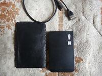 320gb portable external computer/laptop hard drive,superslim,black,usb 2