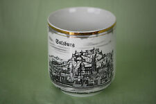 Cesky Porcelan Dubi Coffee Cup Mug City Salzburg made Czechoslovakia Gold Rim