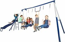 Outdoor Swingset Swing Set Playground Kids Play Playset Slide Glider Metal Gift