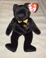 Collectable Rare Retired Ty Beanie Babies The End Bear, Errors, Flat Tush Tag