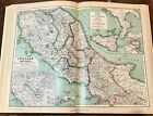 1892 ANTIQUE ANTIQUUS 12 HUGE MAPS 18x14 ATLAS KIEPERT ROME TURKEY GREECE ITALY