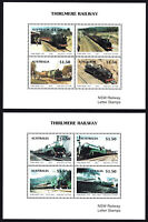 Australia 1993 Thirlmere Railway set (2) local stamp miniature sheets MNH