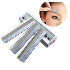 50pcs Eyebrow Razor Stainless Steel Microblading Brow Trimmer Shaving Blade Tool