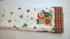 1m/7,11€ 7,6 m Rest Weihnachten Stoff Teddy Dekostoff Vintage Baumwolle Deko 353