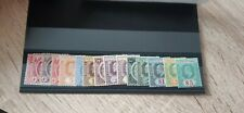 Malaysia Straits Settlements - 1906 MCA set of 15 3c to $5 Complete Cat £325