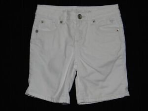 Justice White Denim Simply Low Jean Shorts Girls Size 12R