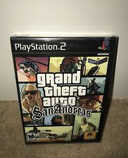 Grand Theft Auto: San Andreas NEW BLACK LABEL W/SECURITY SEAL! MA Sony PS2