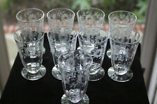 Gorgeous, Cut/Engraved Glass Juice Glasses (9) Rock Sharpe