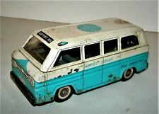 Vintage Japan Tin Friction Chevy Chevrolet Corvair Pan Am Airlines Airport Van