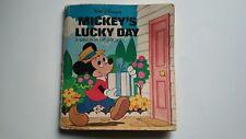 Walt Disney's Mickey's Lucky Day Children's Book - 1980
