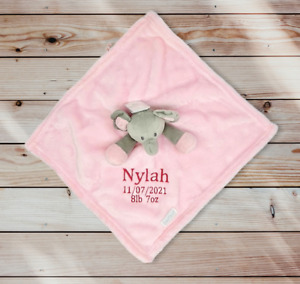 Personalised Baby elephant Comforter  Blankie/Blanket Gift - Quality Gift soft T