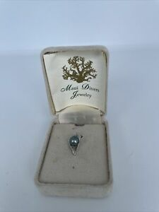 Maui Divers Jewelry Pearl Pendant sets in 14k White Gold - with box