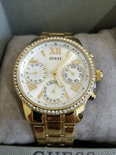 Guess Ladies' *W0623L3* Yellow Gold Plated Stone Set Watch RRP-£159 BRAND NEW