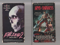 EVIL DEAD 2 TWO & ARMY OF DARKNESS Horror VHS video Movie Gore Cult Slasher ASH